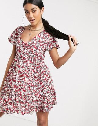 Motel mini tea dress in floral print