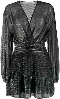 IRO Gesta zebra-print mini dress