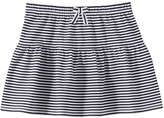 Joe Fresh Toddler Girls' Stripe Jersey Skirt, JF Midnight Blue (Size 5)