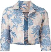 P.A.R.O.S.H. floral brocade cropped jacket - women - Silk/Polyamide/Polyester - M