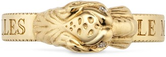 Gucci Yellow gold ring with tiger head