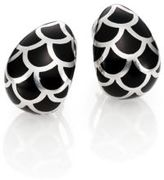 John Hardy Naga Enamel & Sterling Silver Buddha Belly Earrings