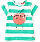 Joules Baby/Little Girls 12 Months-3T Striped Apple-Appliqu Tee