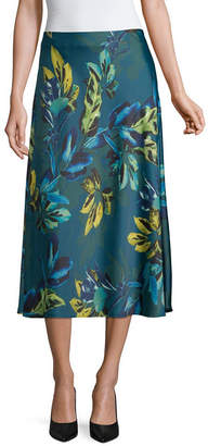 WORTHINGTON Worthington Womens High Waisted Midi A-Line Skirt
