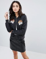 Brave Soul Bomber Jacket With Tiger Badges