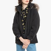 Only Short Faux Fur Hooded Parka with Pockets