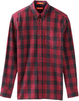 Joe Fresh Men's Plaid Flannel Shirt, Dark Red (Size XS)