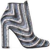 Salvatore Ferragamo striped ankle boots