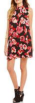 GB Floral Mockneck Shift Dress