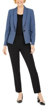 Le Suit Basketweave-Jacket Pants Suit
