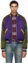 Gucci Purple Needlepoint Pony Bomber Jacket