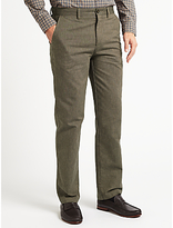 John Lewis Pinpoint Cotton Trousers, Brown