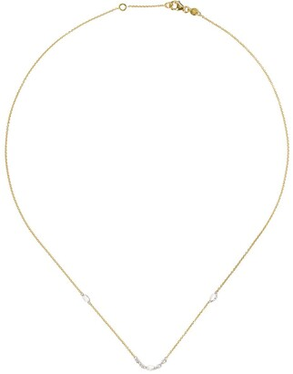 White Bird 18kt yellow gold and platinum Isabelle diamond necklace