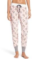 PJ Salvage Women's Print Velour Pants