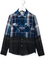 MSGM dyed effect plaid shirt