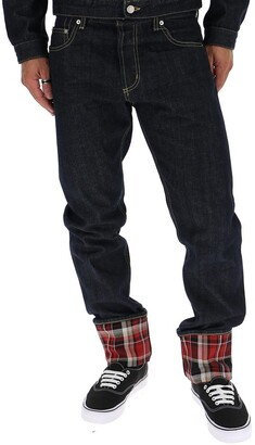 Alexander McQueen Checked Folds Skinny Jeans