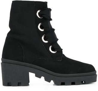 RED Valentino REV(V) chunky lace-up boots