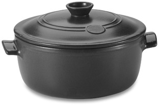 Emile Henry Flame Top 5 1/2-Quart Black Covered Casserole
