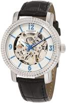 Akribos XXIV Women's AKR503SS Skeleton Automatic Strap Watch