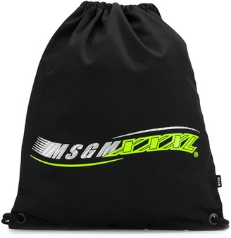 MSGM Contrast Logo Backpack