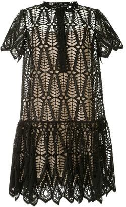 Oscar de la Renta Lace Mini Dress