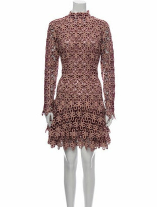 Jonathan Simkhai Lace Pattern Mini Dress w/ Tags Red