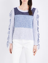 Claudie Pierlot Modigliani knitted cotton-blend jumper