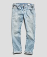 Todd Snyder Slim Fit Japanese Stretch Selvedge Jean in Vintage Faded Indigo Wash