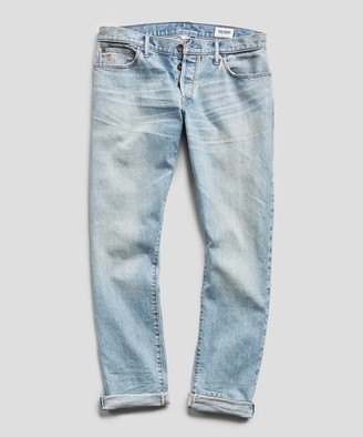 Todd Snyder Slim Fit Japanese Stretch Selvedge Jean in Vintage Faded Indigo Wash