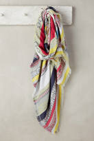 Anthropologie Striped Jacquard Scarf