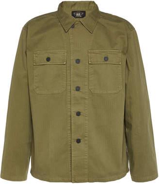 Ralph Lauren RRL Cotton-Twill Military Button-Up Shirt