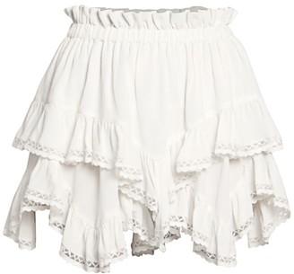 Isabel Marant Leocadia Endless Summer Ruffle Mini Skirt