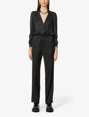 Zadig & Voltaire Captain elasticated-waist satin-crepe jumpsuit