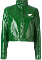 Courreges high collar cropped jacket