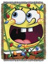 "Nickelodeon SpongeBob ""Fa La La Bob"" Woven Tapestry Throw Blanket"