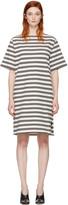 Acne Studios Ecru Striped Dodora Dress