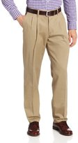 Lee Men's Stain-Resistant Relaxed-Fit Pleated Pant