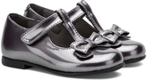 Rachel Pewter Metallic Bow-Accent Molly Mary Jane