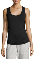 Hanro Yoga Basic Scoop-Neck Racerback Tank, Black