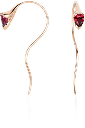 Fernando Jorge Sprout Small 18k Rose-Gold Diamond and Sapphire Earrings