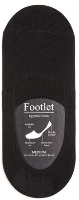 Pantherella Footlet Cotton Blend Shoe Liners - Mens - Black