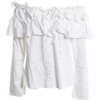 Opening Ceremony White Cotton Top for Women