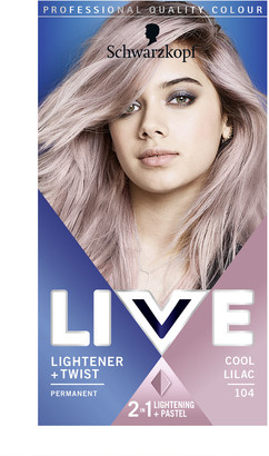 Schwarzkopf Live Colour Lightener + Twist 104 Cool Lilac
