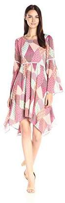 Nanette Lepore Nanette Women's Bohemian Quilt Print Dress