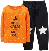 Carter's 2 Piece Dot PJ Set (Toddler/Kid) - Black-5T