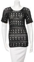 Derek Lam Open Knit Short Sleeve Top w/ Tags
