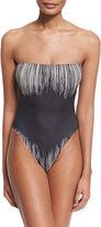 Norma Kamali Bishop Fringe-Print One-Piece Swimsuit