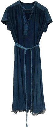 Pas De Calais Blue Cotton Dresses