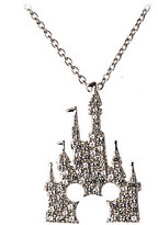 Disney Mickey Mouse Castle Necklace by Rebecca Hook - Silver