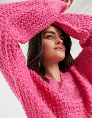 AX Paris chunky chenille jumper in pink